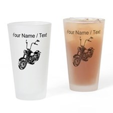 Custom Vintage Motorcycle Drinking Glass