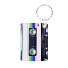 Metallic Mixed Tape - Blue Keychains