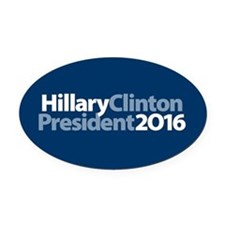 Hillary Clinton Oval Car Magnet