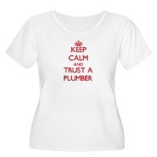 Keep Calm and Trust a Plumber Plus Size T-Shirt
