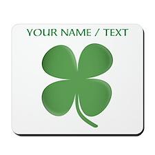Custom Green Four Leaf Clover Mousepad