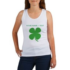 Custom Green Four Leaf Clover Tank Top