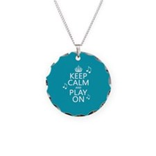 Keep Calm and Play On (music) Necklace