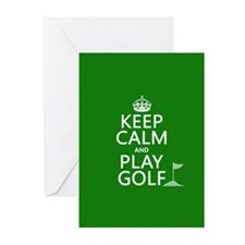Keep Calm and Play Golf Greeting Cards