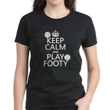 Keep Calm and Play Footy (soccer) T-Shirt