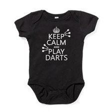 Keep Calm and Play Darts Baby Bodysuit