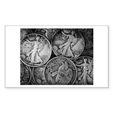 Walking Liberty Coins Decal