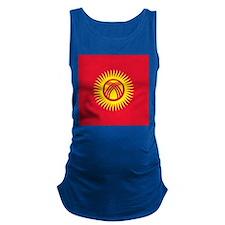 Flag of Kyrgyzstan Maternity Tank Top