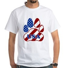 Patriotic Paw Flag W/USA T-Shirt