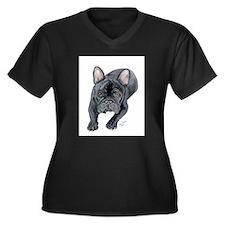 Black French Bulldog Plus Size T-Shirt
