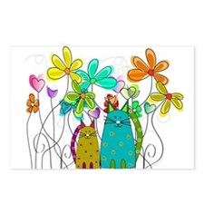 Spring Flowers 14 Postcards (Package of 8)
