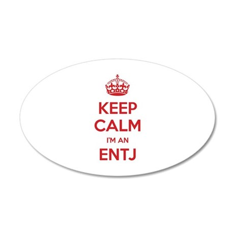 Keep Calm I'm An ENTJ 20x12 Oval Wall Decal