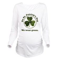 Wear Green Long Sleeve Maternity T-Shirt
