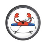 Crab in Bathtub Wall Clock