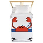 Crab in Bathtub Twin Duvet