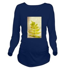 Natural fern leaves Long Sleeve Maternity T-Shirt