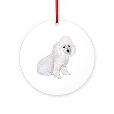 Poodle (W3) Ornament (Round) Ornament (Round)