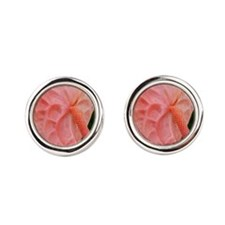 Pink Anthurium Cufflinks