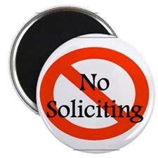 No Soliciting Magnets