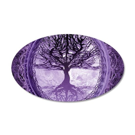 Tree of Life in Purple Wall Decal