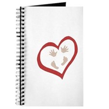 Baby Hands and Feet in Heart 2 Journal