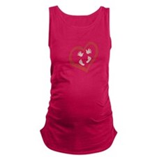 Baby Hands and Feet in Heart 2 Maternity Tank Top