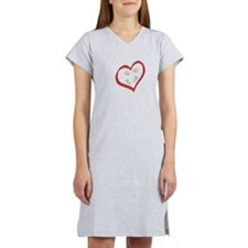 Baby Hands and Feet in Heart 2 Women's Nightshirt