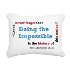 Doing the Impossible - Rectangular Canvas Pillow