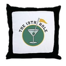 Golf Drinks Throw Pillow