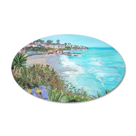 Laguna Beach 20x12 Oval Wall Decal