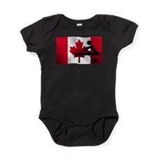 Rowing Canadian Flag Baby Bodysuit
