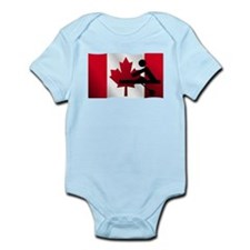 Rowing Canadian Flag Body Suit