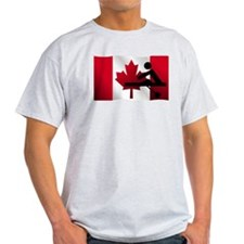Rowing Canadian Flag T-Shirt