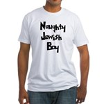 Naughty Jewish Boy Fitted T-Shirt