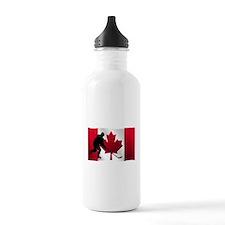 Hockey Canadian Flag Sports Water Bottle