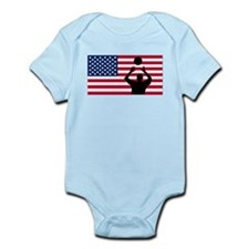 Volleyball Set American Flag Body Suit