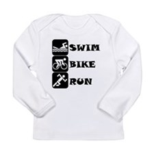 Swim Bike Run Long Sleeve T-Shirt