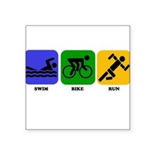 Swim Bike Run Sticker