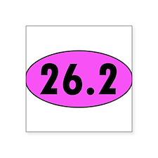 Pink 26.2 Marathon Oval Sticker