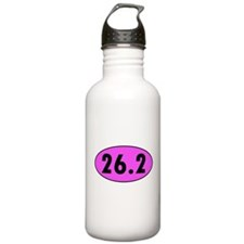 Pink 26.2 Marathon Oval Sports Water Bottle