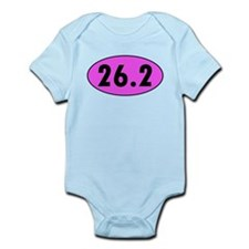Pink 26.2 Marathon Oval Body Suit