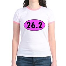 Pink 26.2 Marathon Oval T-Shirt