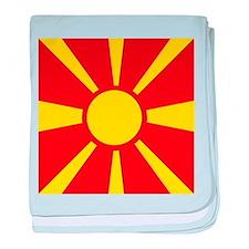 Flag of Macedonia baby blanket