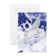 A Dreamy Wolf Greeting Card