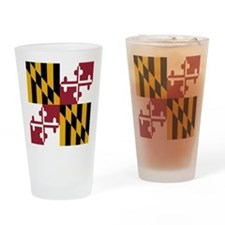 State Flag of Maryland Drinking Glass
