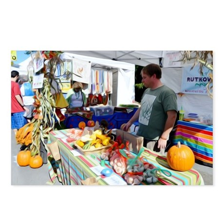 Garlic Festival Vendors 2 Postcards (Package of 8)