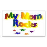 My Mom Rocks Rectangle Sticker