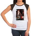 The Accolade & Boxer Women's Cap Sleeve T-Shirt