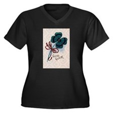 Four Leave Clover for Good Luck Plus Size T-Shirt