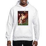 Seated Angel & Boxer Hooded Sweatshirt